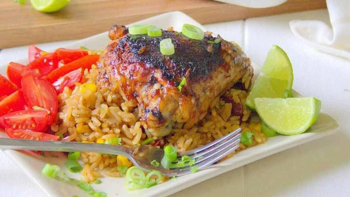 Riz à la mexicaine et poulet grillé