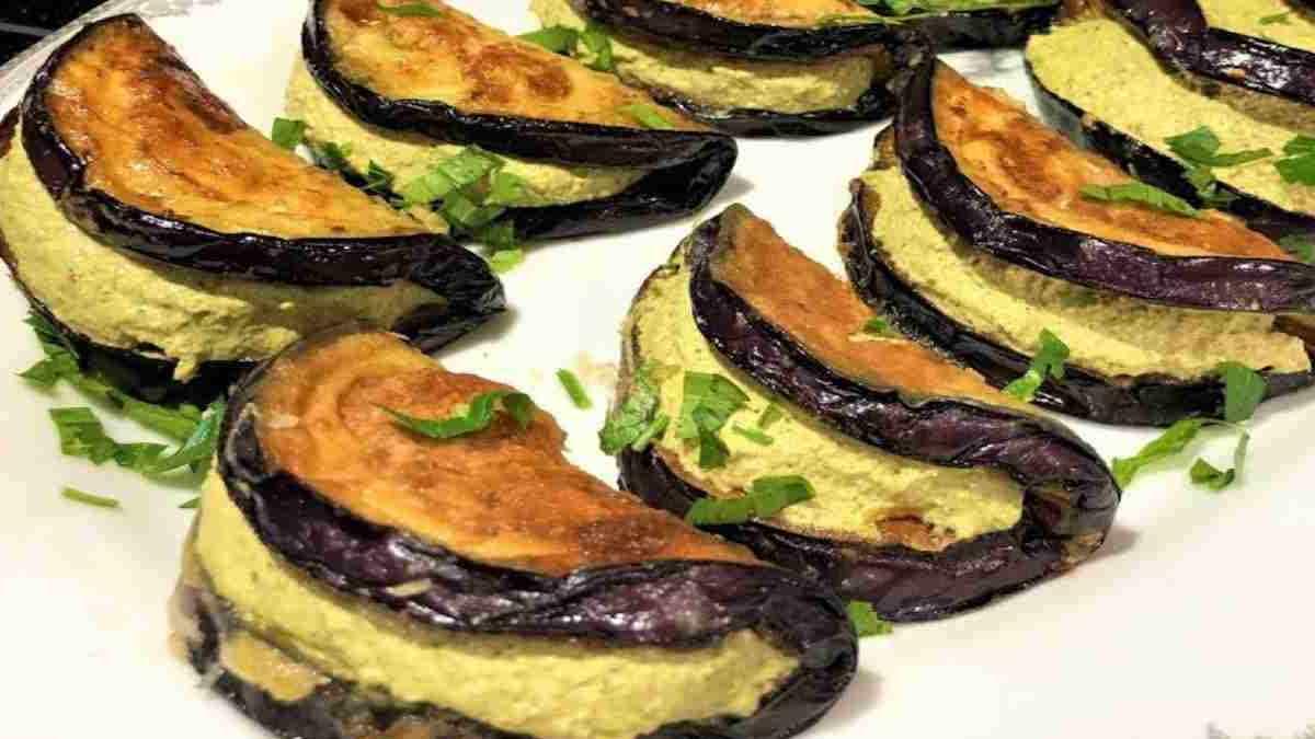 Sandwichs aux aubergines avec omelette