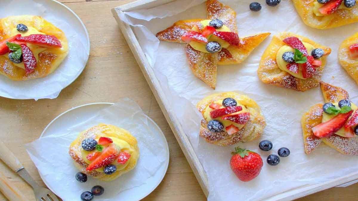 Surprenants danish à la crème pâtissière et fruits rouges