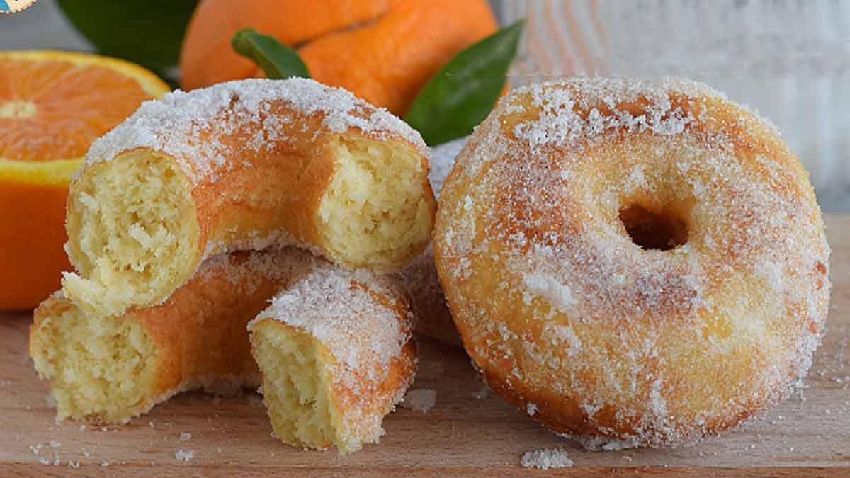beignets à l'orange et à la ricotta