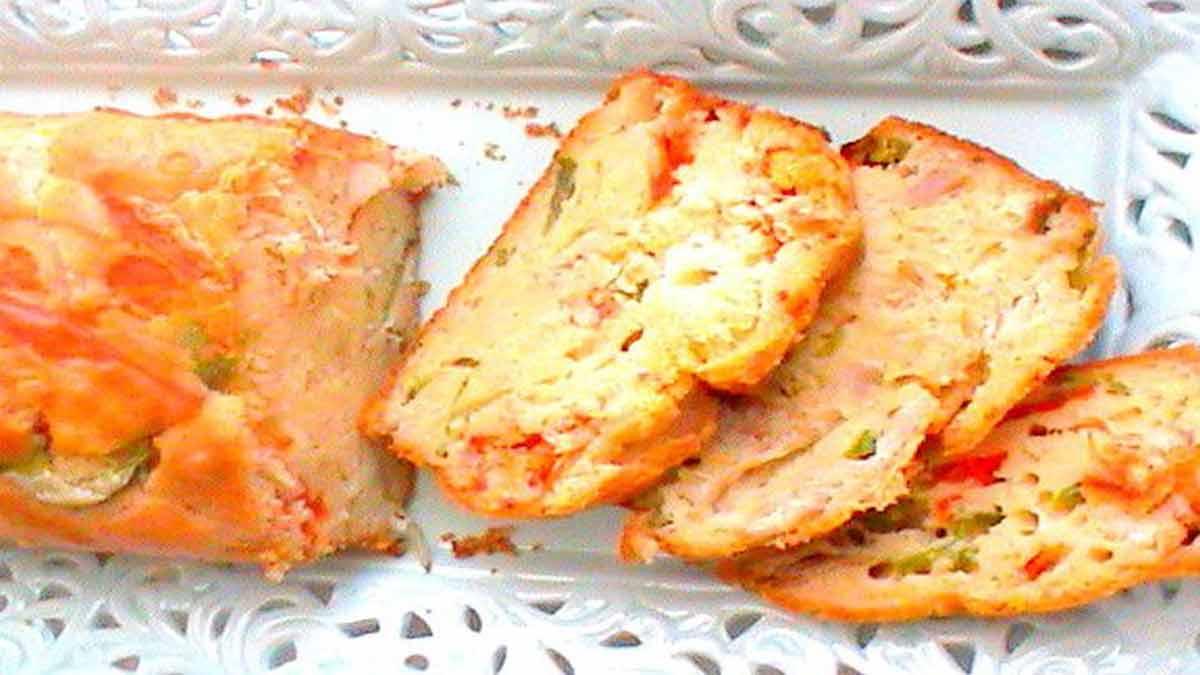 cake salé au poulet et poivrons