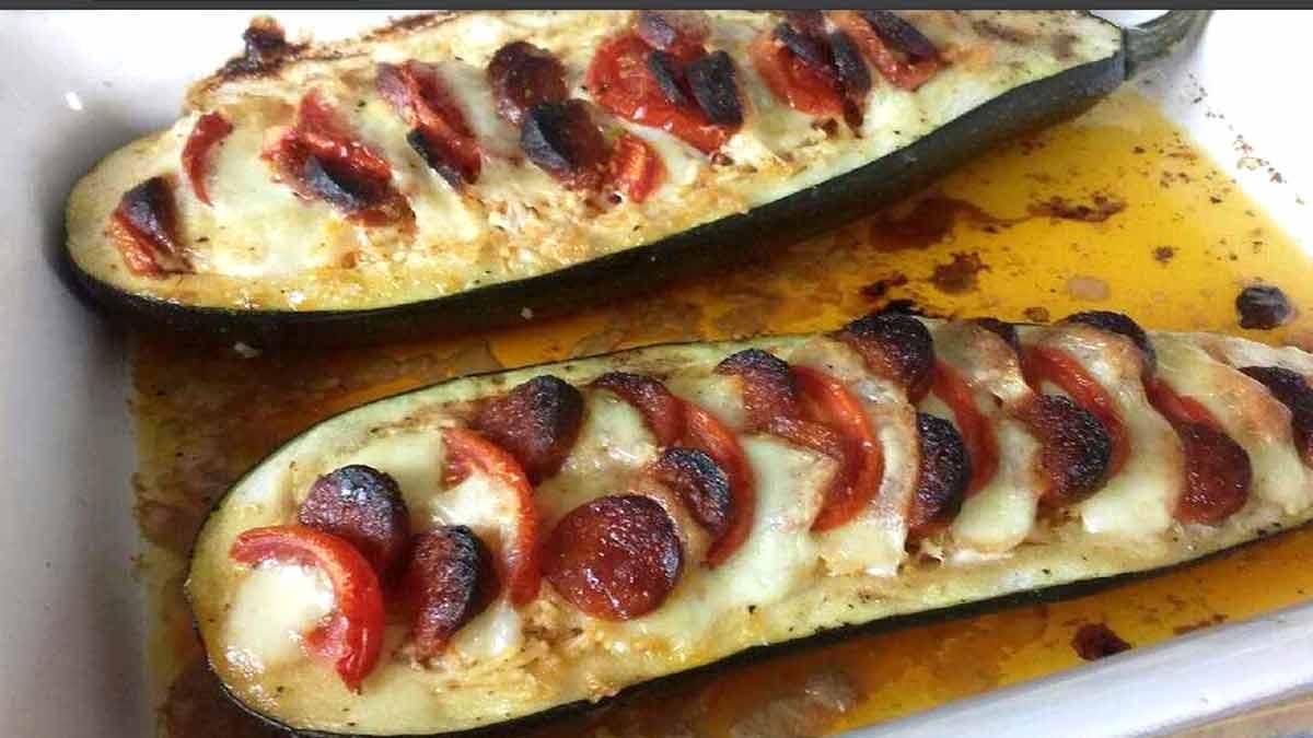 courgettes farcies à la mozzarella
