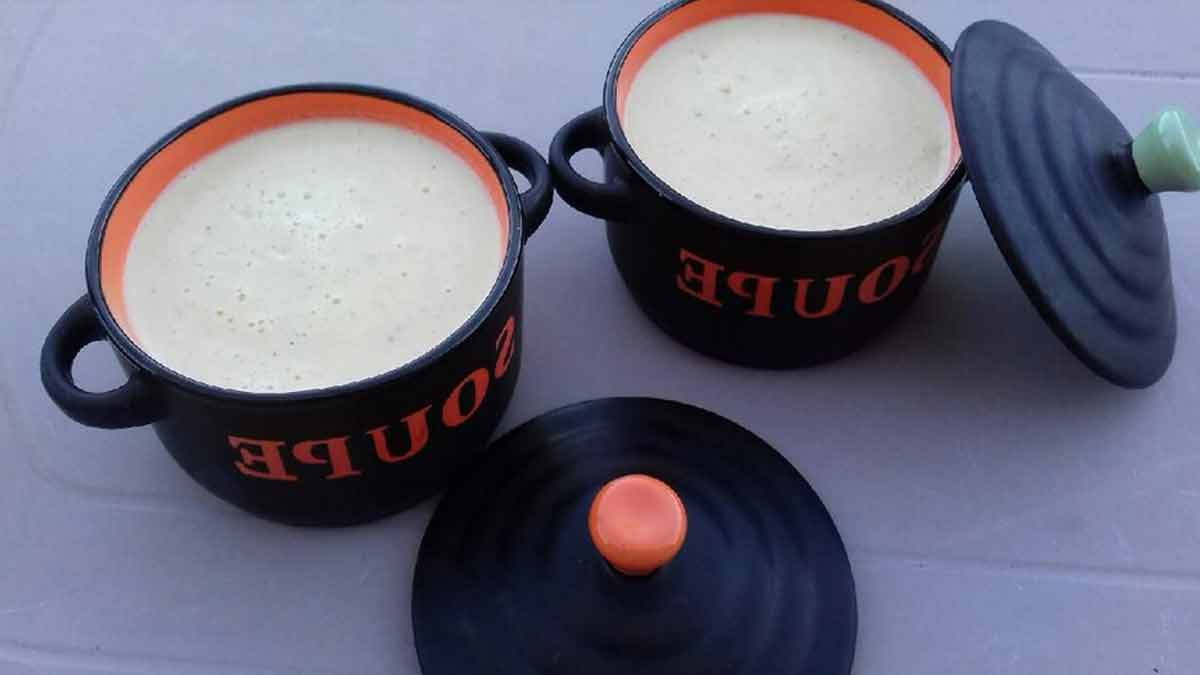 crème de courgette à la muscade