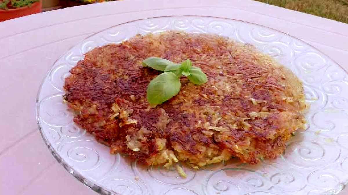 crêpe de courgettes et pommes de terre