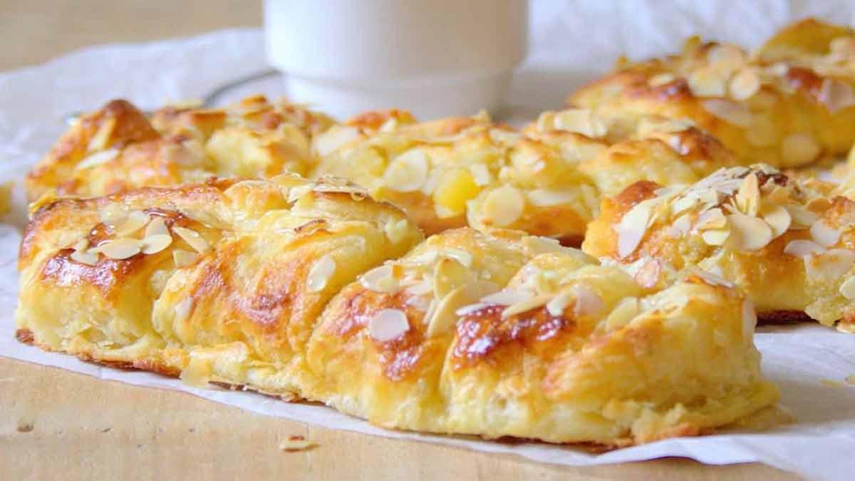 danish à la crème d'amandes et pommes