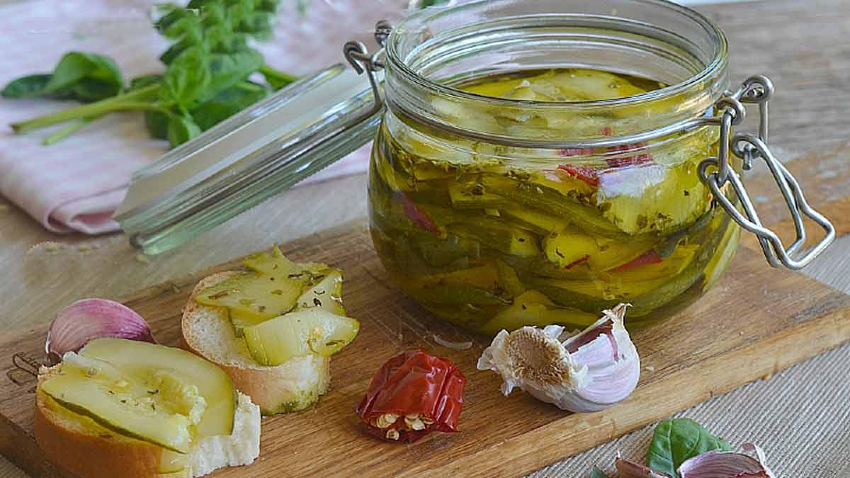 fameuses courgettes à l'huile