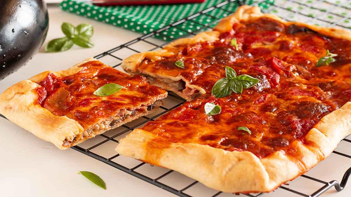 feuilleté d'aubergines et fromages