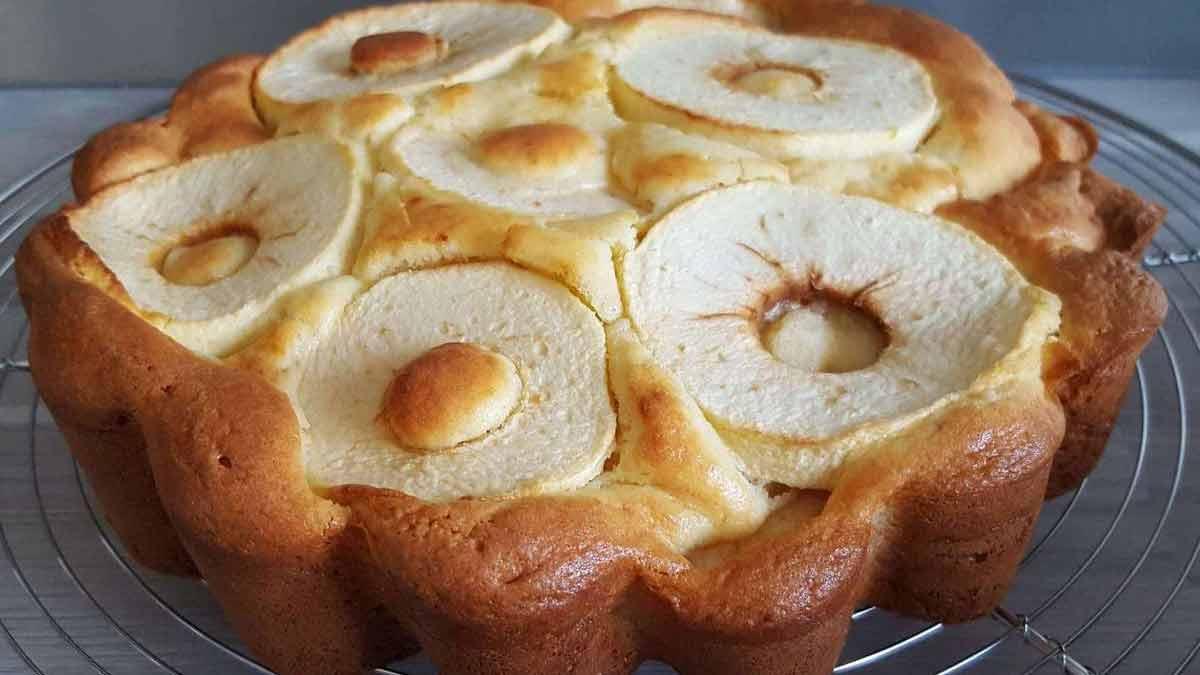gâteau au mascarpone et aux pommes