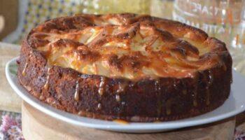gâteau aux pommes et caramel beurre