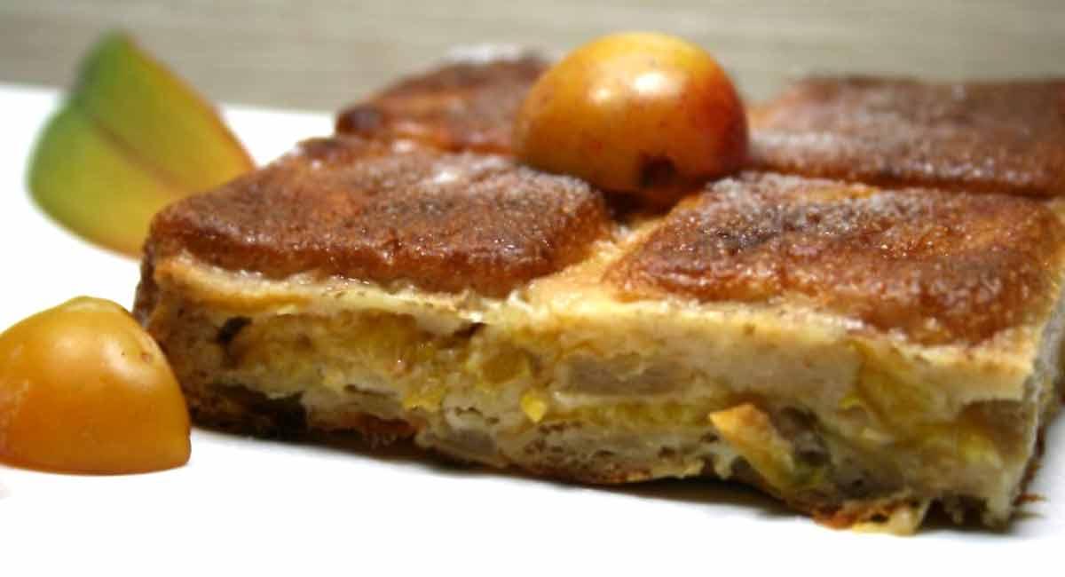 gâteau invisible aux pommes et mirabelles