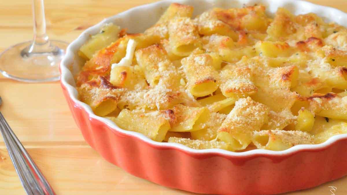 gratin de pâtes et de pommes de terre