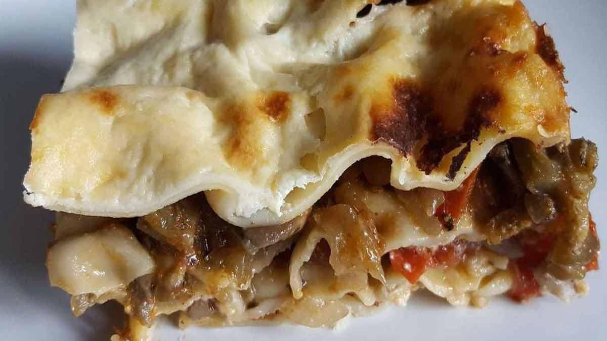 lasagnes végétariennes à la crème de parmesan