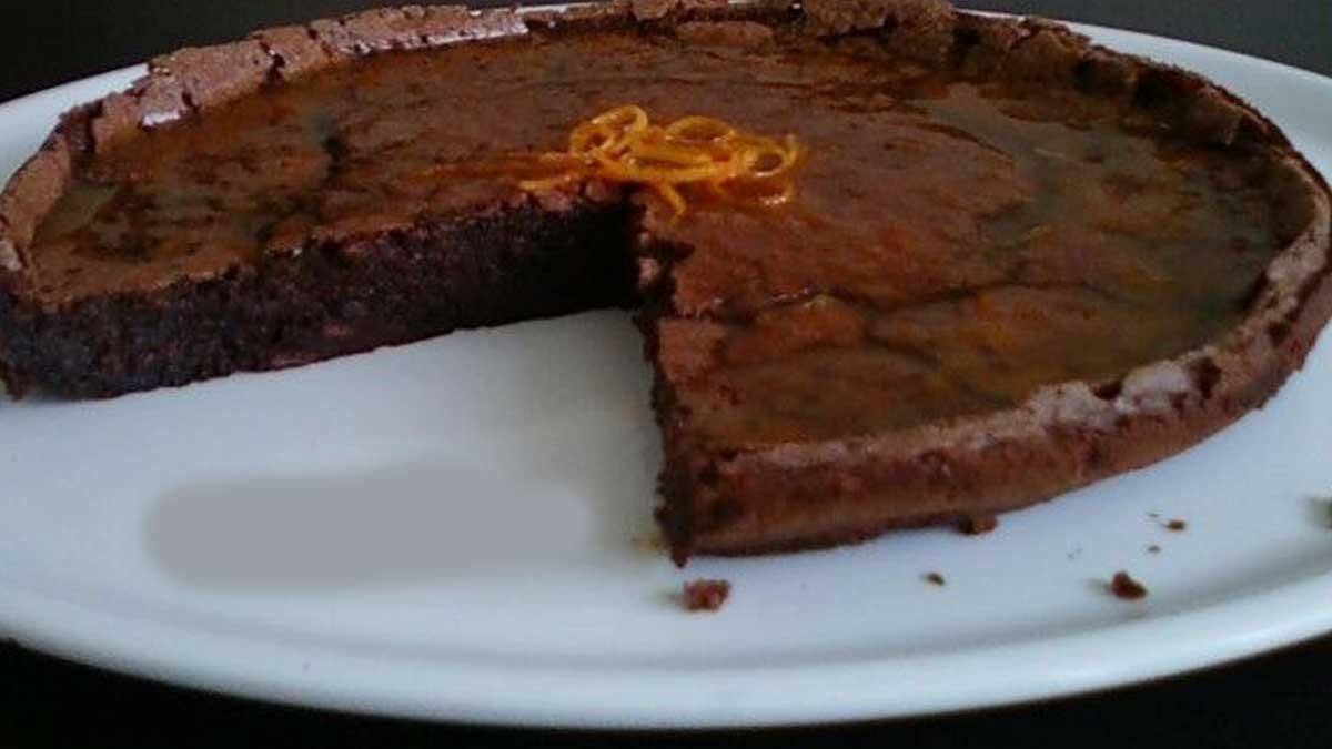 moelleux au chocolat et sirop d'orange
