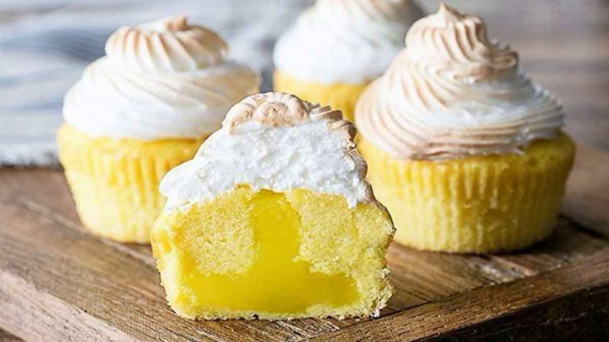 muffins crémeux au citron meringué