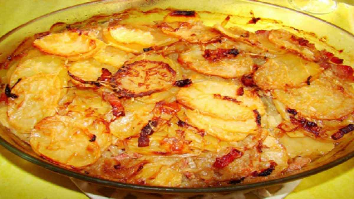 pommes de terre boulangères aux oignons