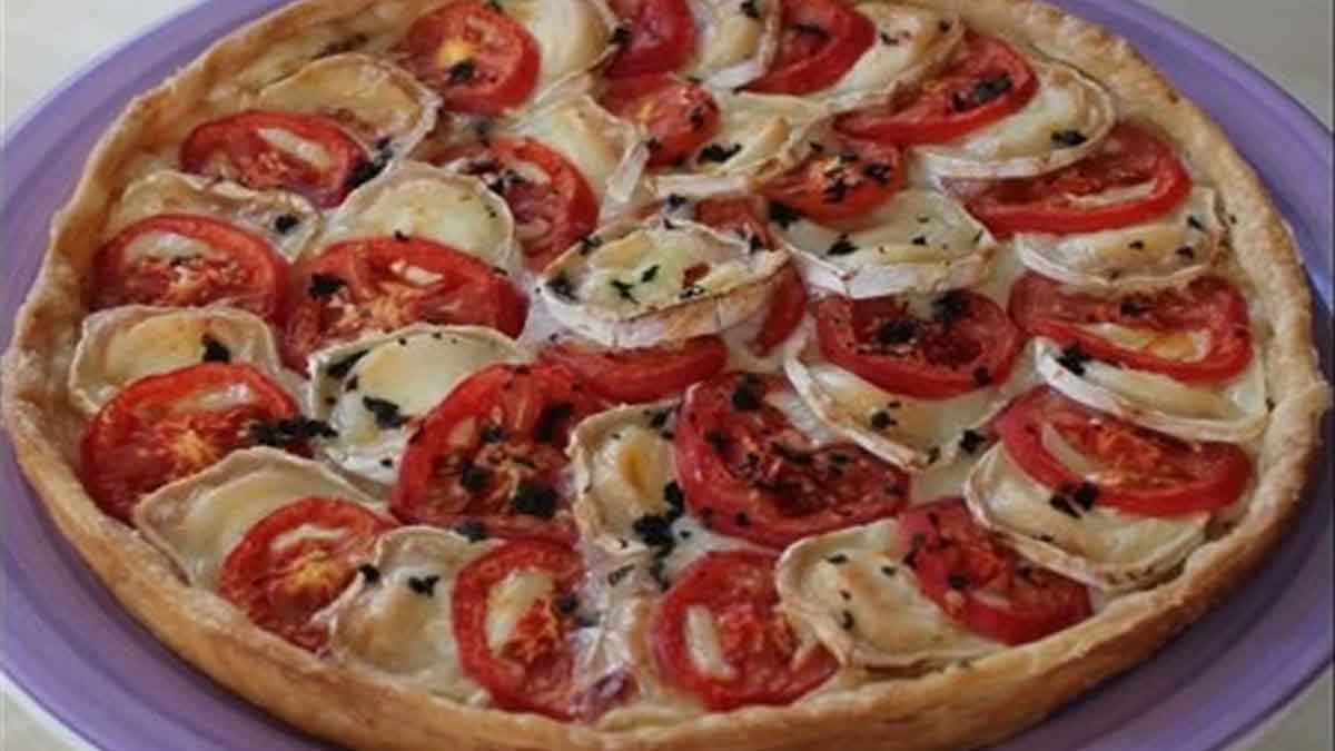 tarte au chèvre-miel et aux tomates