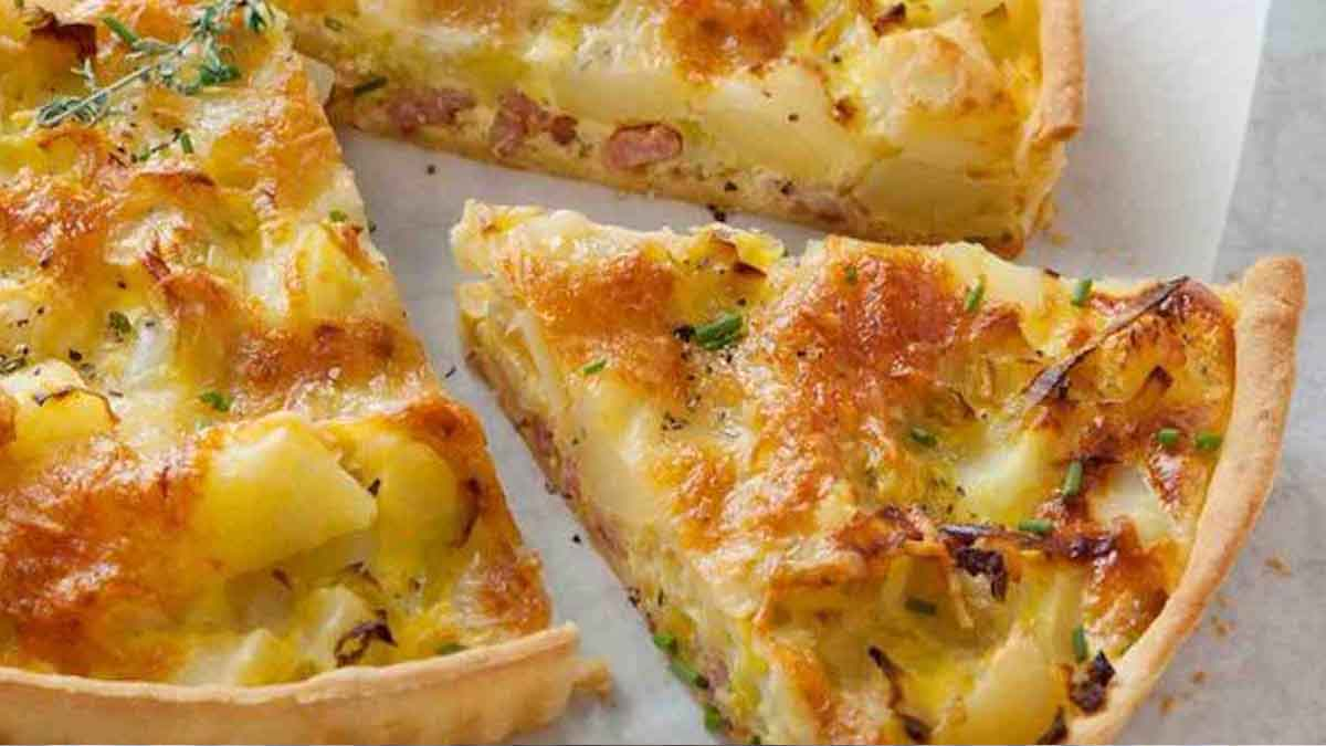 tarte aux poireaux et pommes de terre