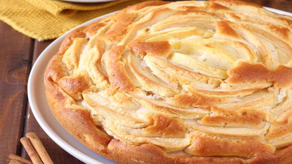 tarte aux pommes avec que des blancs d'œufs