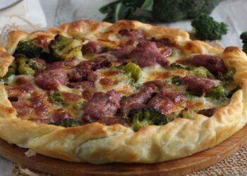 tarte salée aux brocolis et saucisses