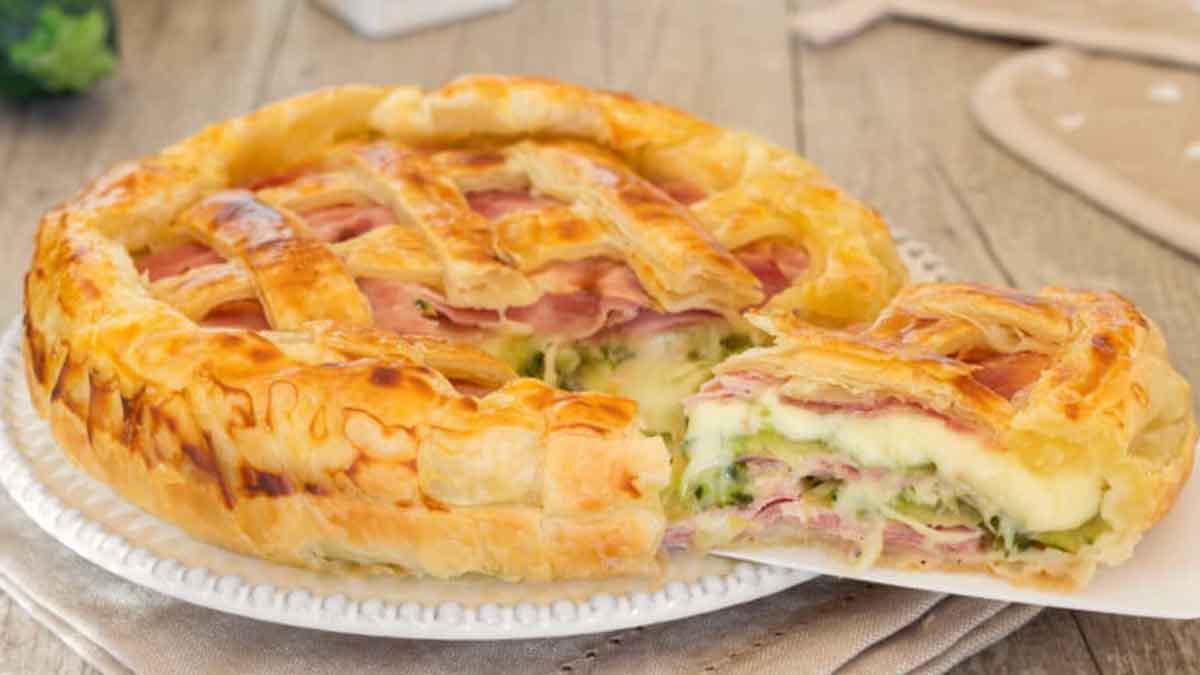 tarte salée aux courgettes et au jambon