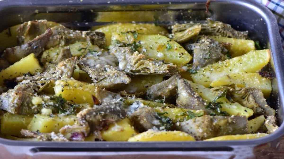 Artichauts et pommes de terre à la napolitaine
