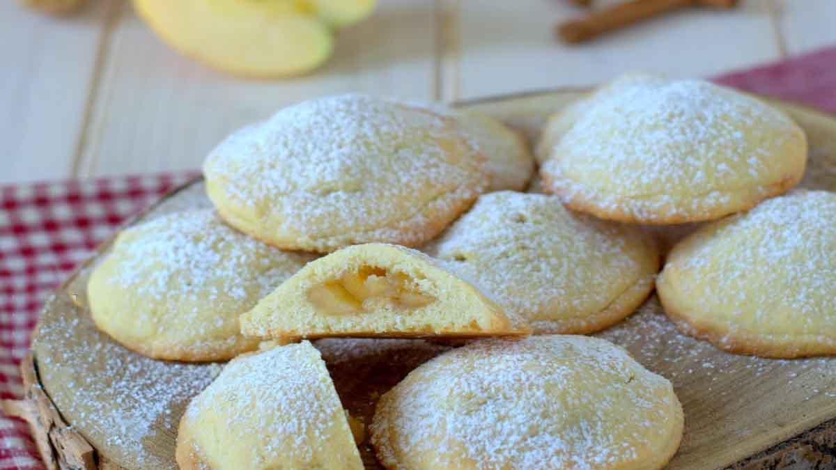 Biscuits fourrés aux pommes