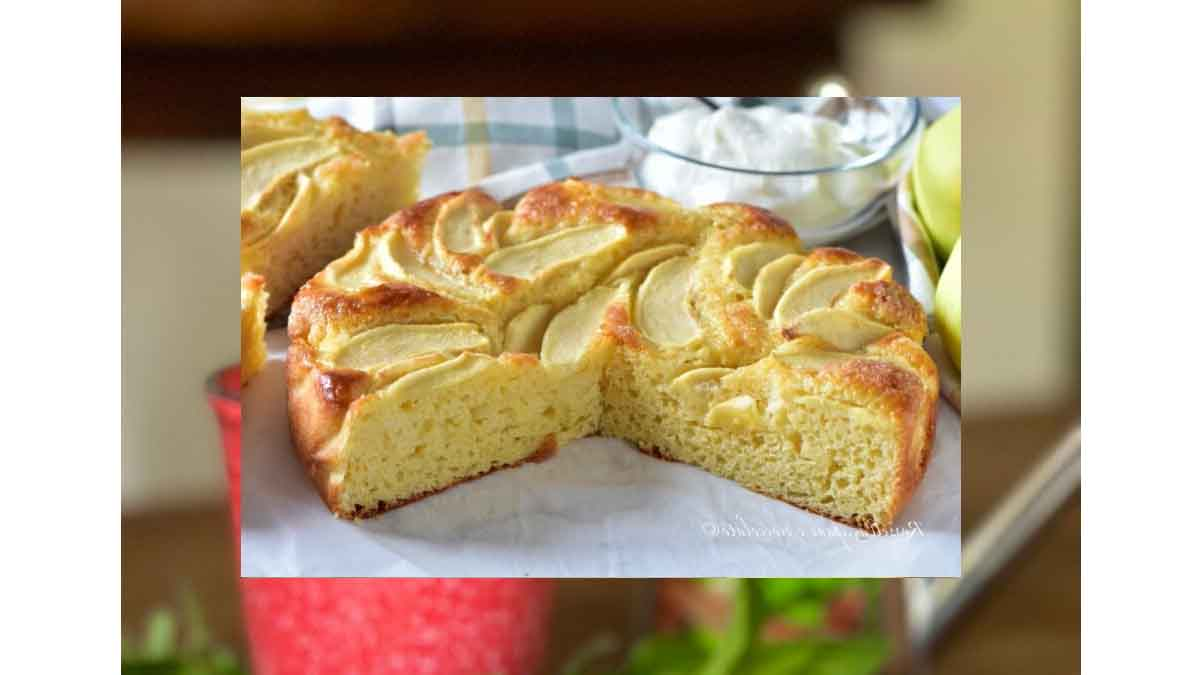 Gâteau aux pommes et au yaourt à la vanille