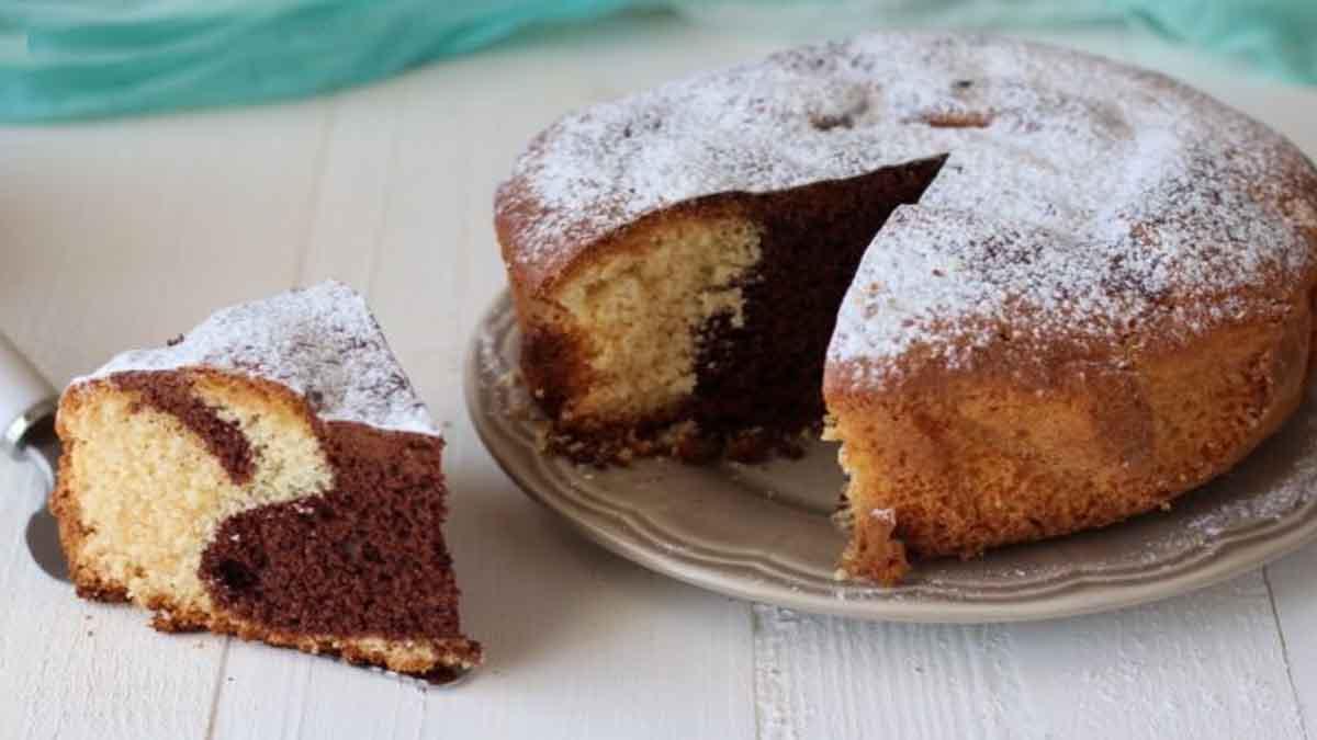 Gâteau bicolore à la farine de riz