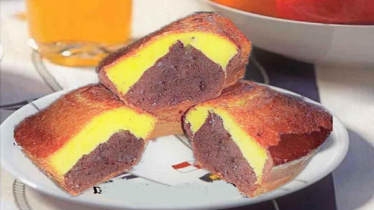 Gâteau diététique bicolore