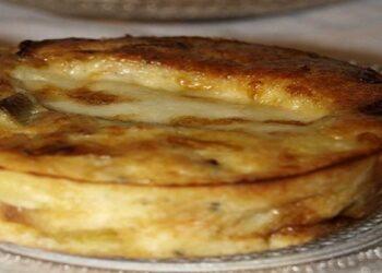 Moelleux aux poireaux et mozzarella