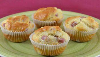 Muffins au jambon et kiri