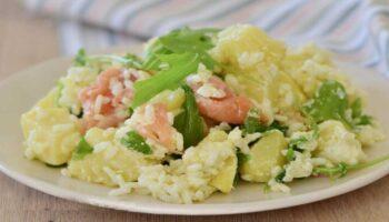 Salade de pommes de terre et riz