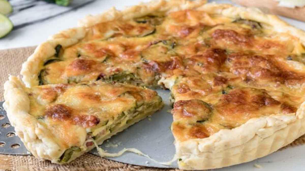Tarte aux courgettes et mozzarella
