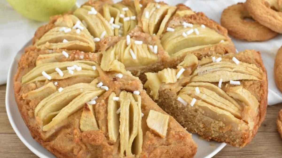 Tarte aux pommes et biscuits