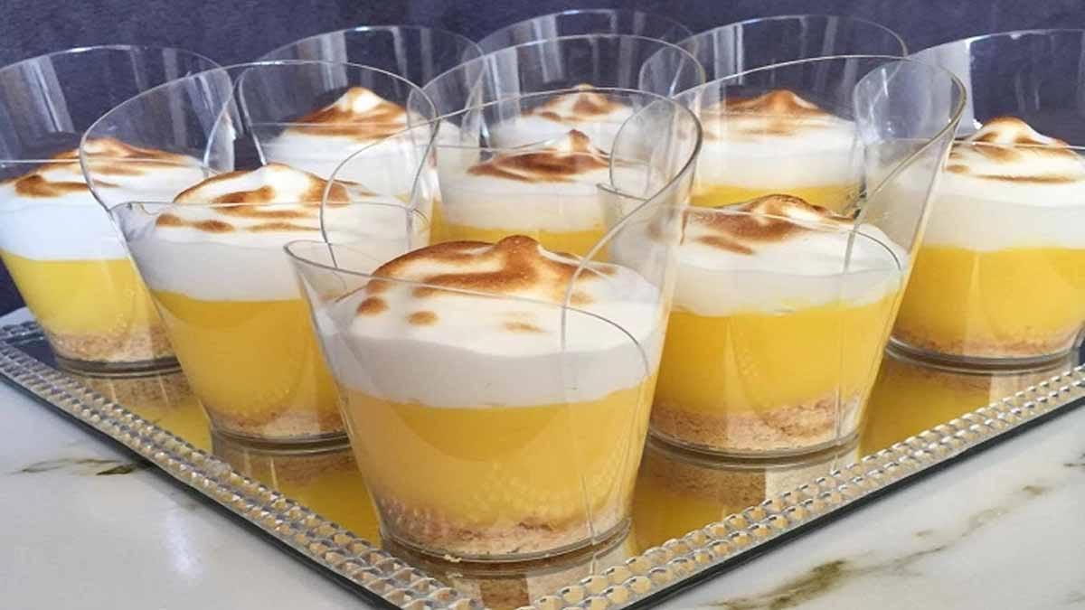 Verrines de tarte au citron meringuée