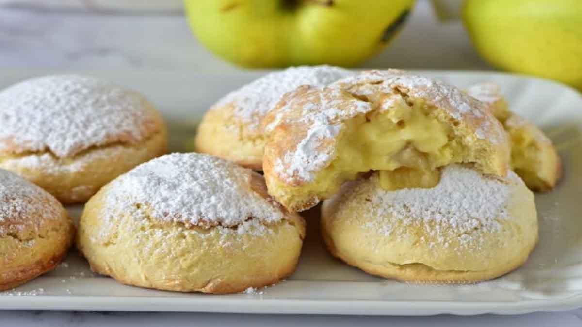 biscuits farcis aux pommes et à la crème