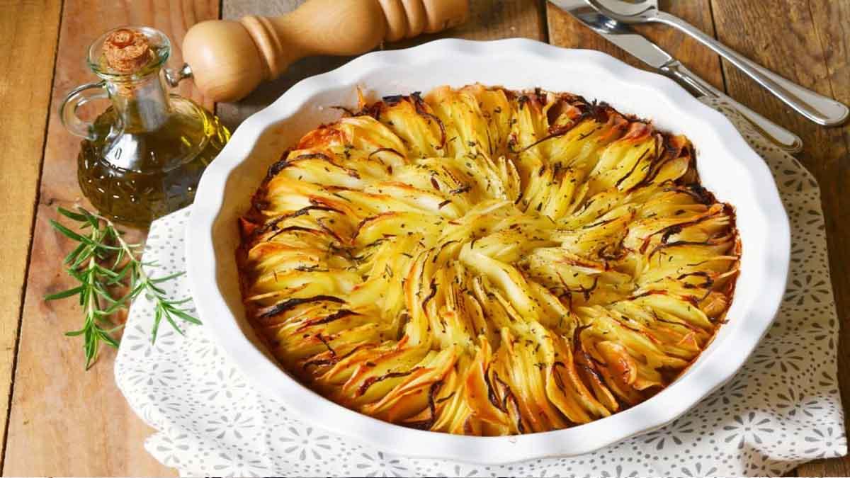gâteau croustillant de pommes de terre