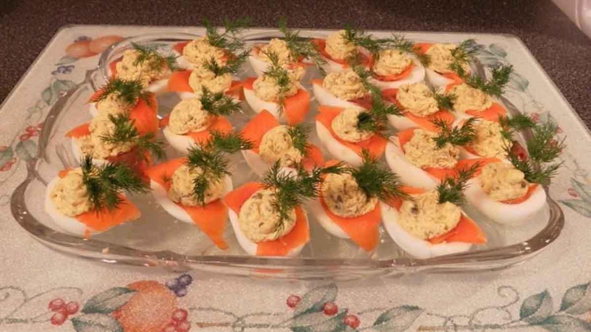 œufs mimosa au saumon fumé