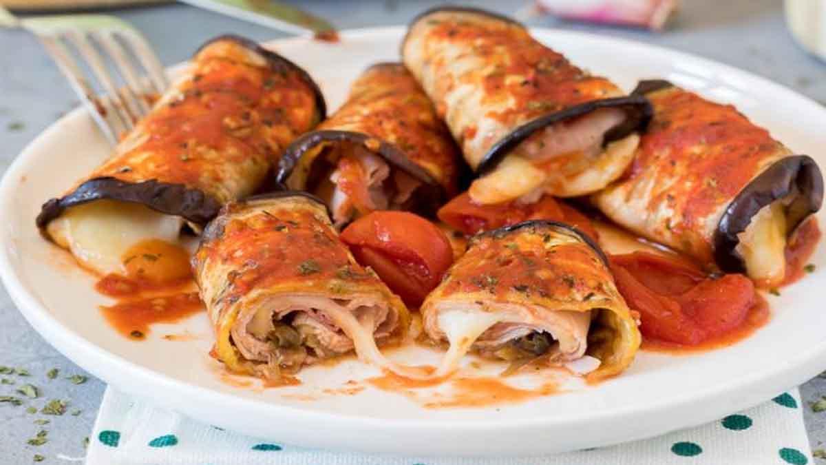 rouleaux aux aubergines à la mozzarella