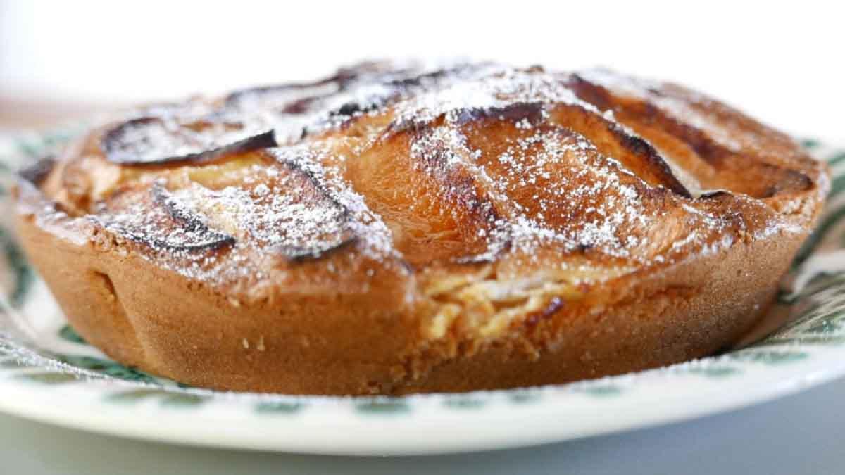 tarte aux pommes sans œufs