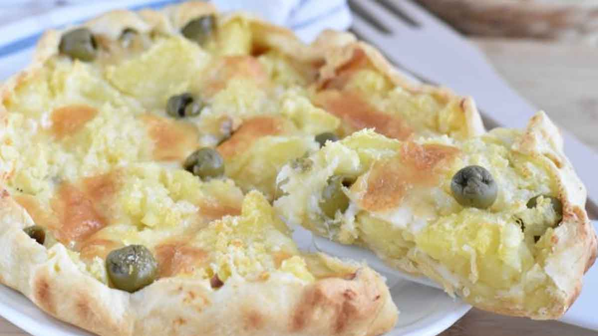 tarte salée aux pommes de terre et olives