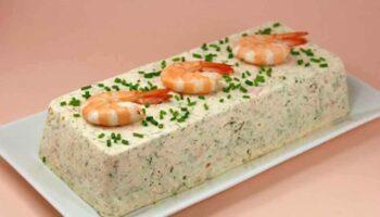 Terrine de Saint-Jacques au saumon et aux crevettes